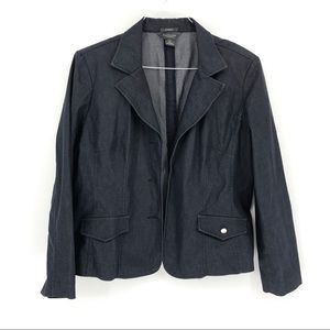 Van Heusen stretch denim dark blue blazer xl